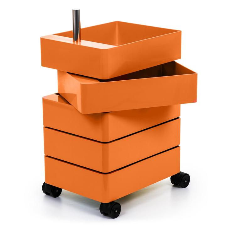 360° Container 5 Fächer in orange von Magis