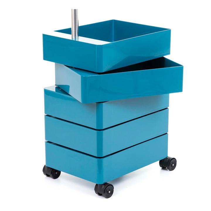 360° Container 5 Fächer in blau von Magis
