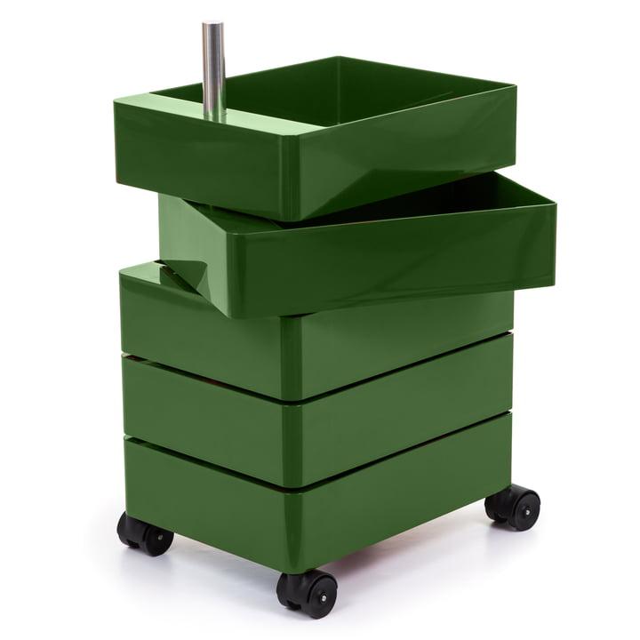 360° Container 5 Fächer in grün von Magis