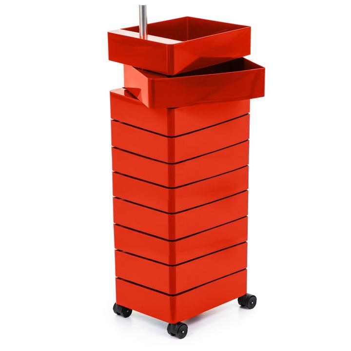 360° Container 10 Fächer, rot von Magis