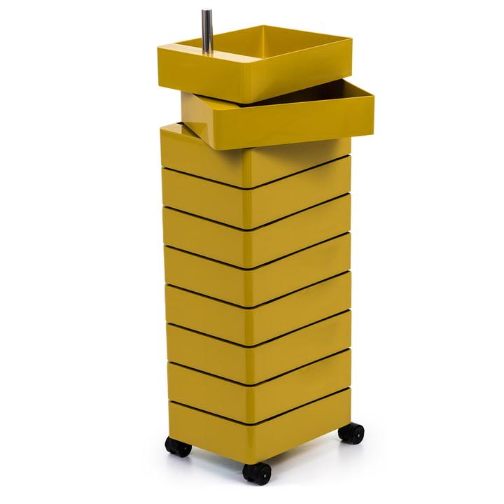 360° Container 10 Fächer in gelb von Magis