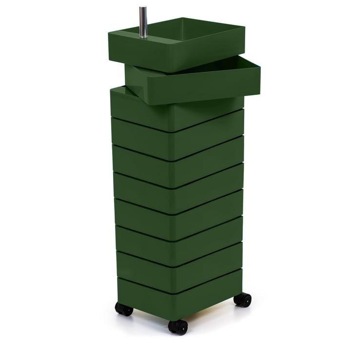 360° Container 10 Fächer in grün von Magis