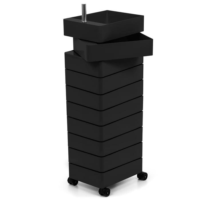 360° Container 10 Fächer in schwarz von Magis