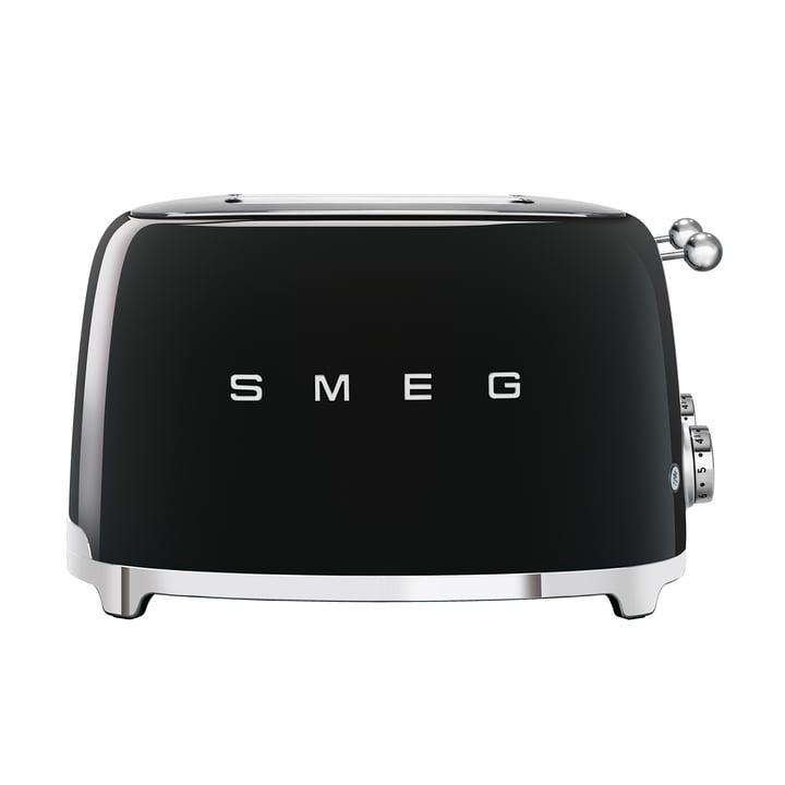 4-Scheiben Toaster TSF03 in schwarz von Smeg