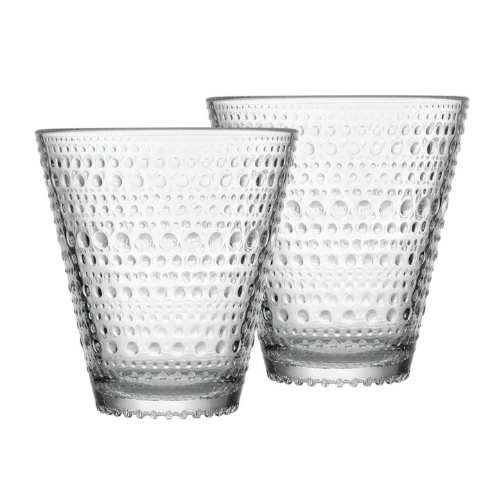 Kastehelmi Trinkglas 30 cl  (2er-Set) von Iittala in klar