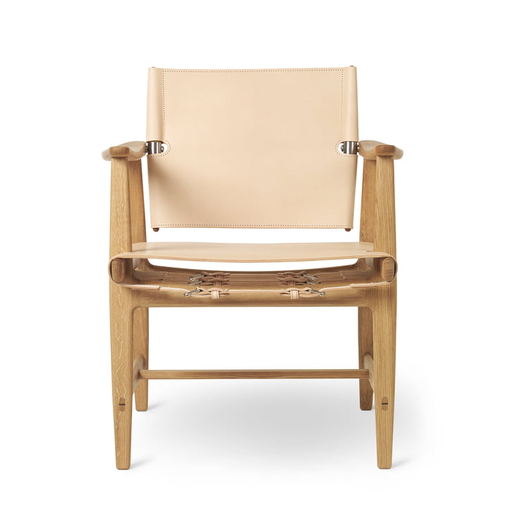 BM1160 Huntsman Chair, Eiche geölt / Sattelleder natur (Beschläge Edelstahl) von Carl Hansen