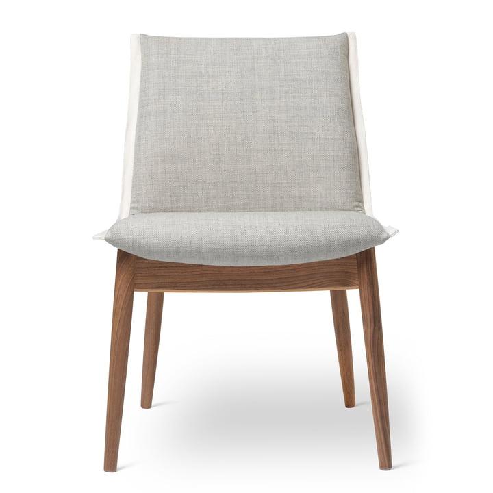 E004 Stuhl von Carl Hansen in Walnuss geölt / Kvadrat Clara 2 144