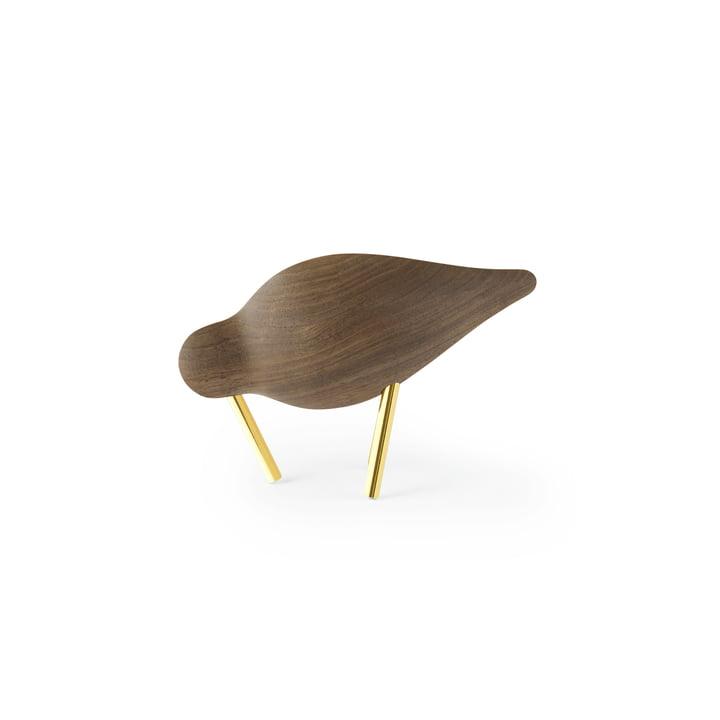 Shorebird small, Walnuss / Messing von Normann Copenhagen