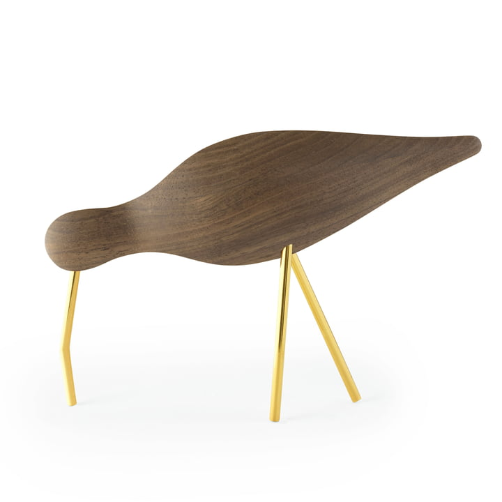 Shorebird large in Walnuss / Messing von Normann Copenhagen