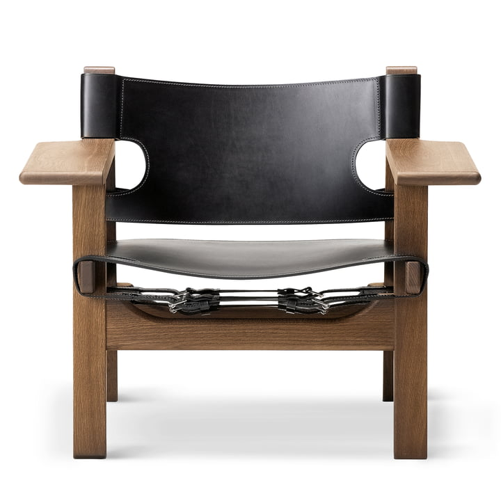 Fredericia - Spanish Chair, Eiche geräuchert und geölt / Leder s