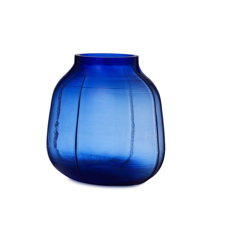 Step Vase H 23 cm in blau von Normann Copenhagen