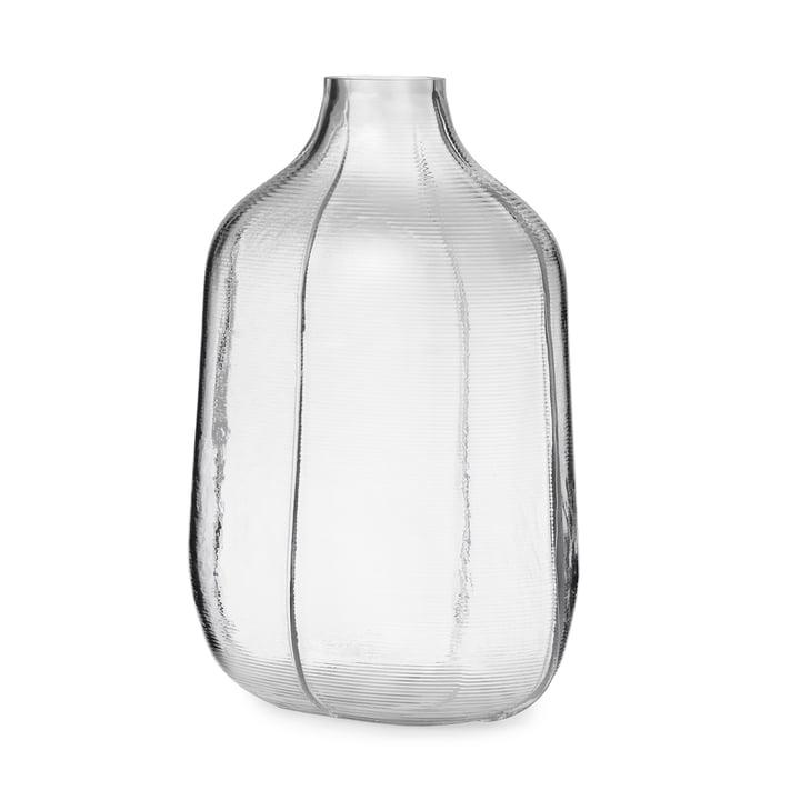 Step Vase H 31 cm in klar von Normann Copenhagen