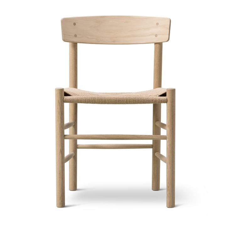 J39 Mogensen Stuhl in Eiche geseift / Schnurgeflecht Natur von Fredericia