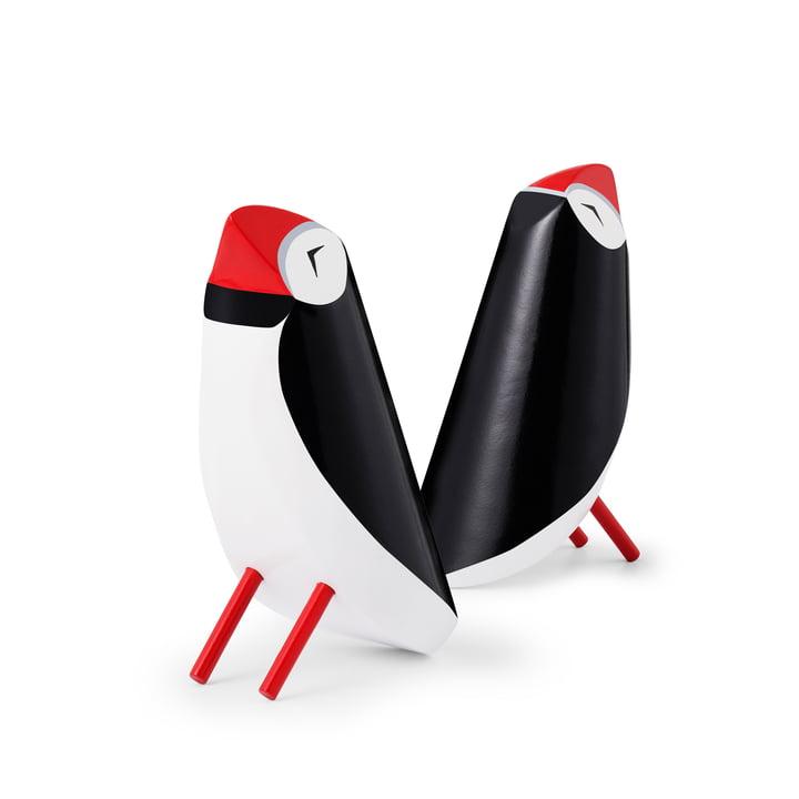 Puffing Papagei Holzfigur, schwarz / weiß von Normann Copenhagen