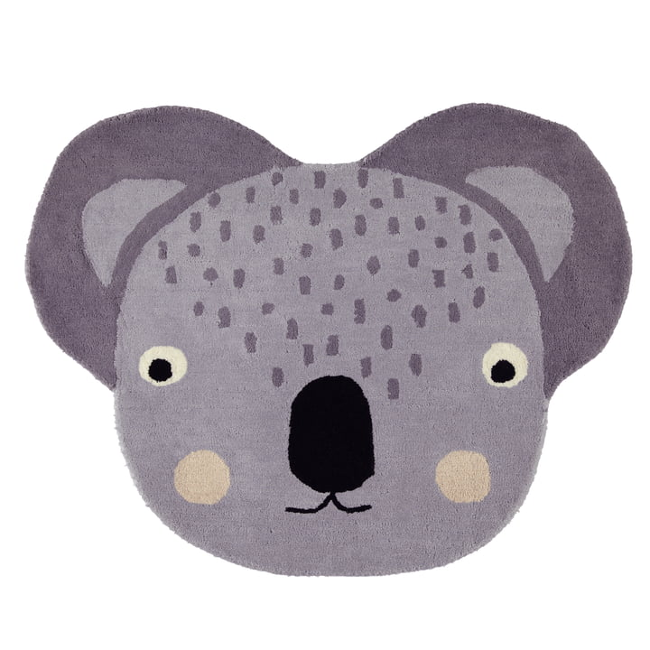 Kinderteppich 100 x 85 cm Koala von OYOY