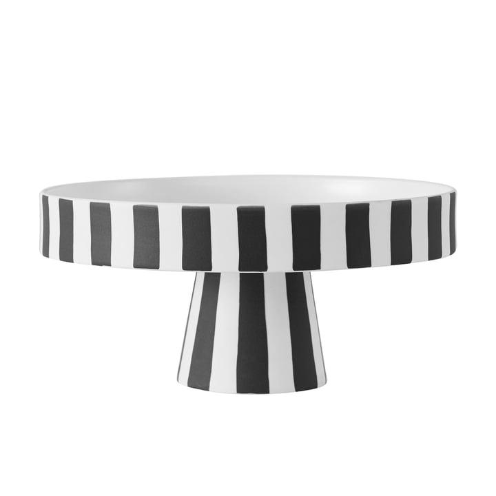 Toppu Tablett, Ø 20 x H 9 cm in schwarz / weiß von OYOY