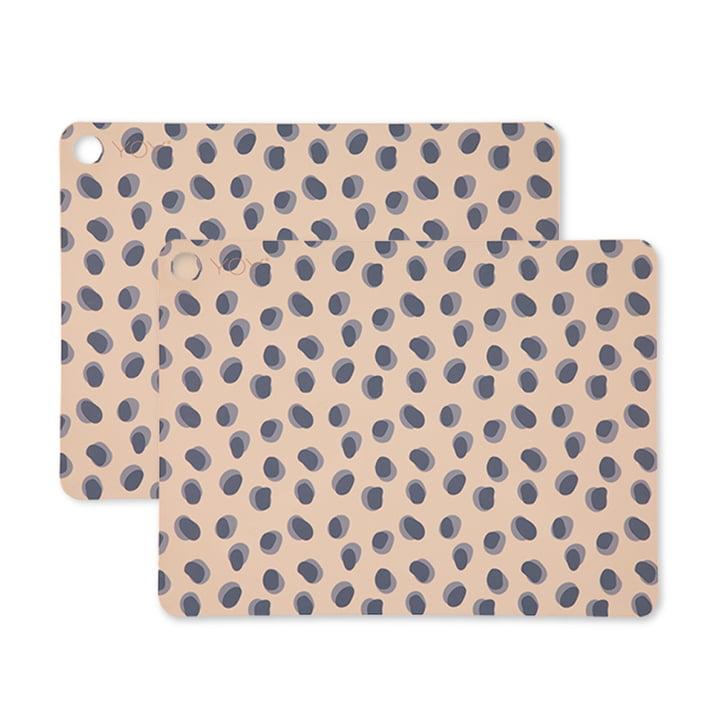 Tischset Leopard Dots, 45 x 34 cm in camel (2er-Set) von OYOY