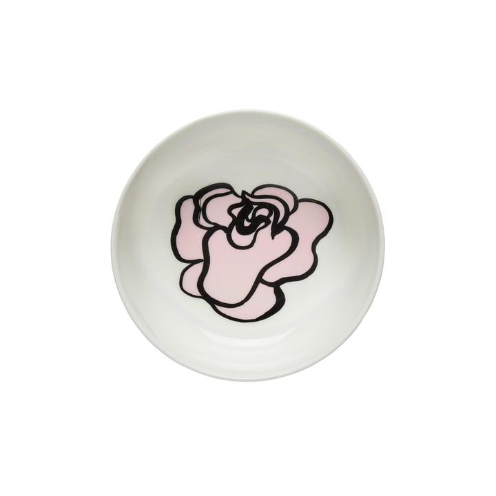 Oiva Eläköön Elämä Schale 400 ml von Marimekko in weiß / pink