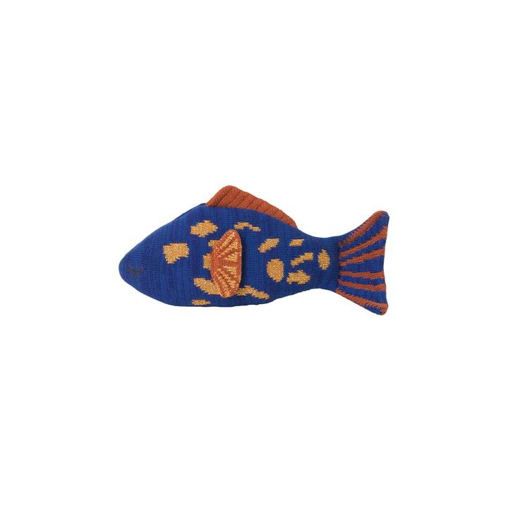 Fruiticana Kissen Leopard Fisch, blau / orange / gelb von ferm Living