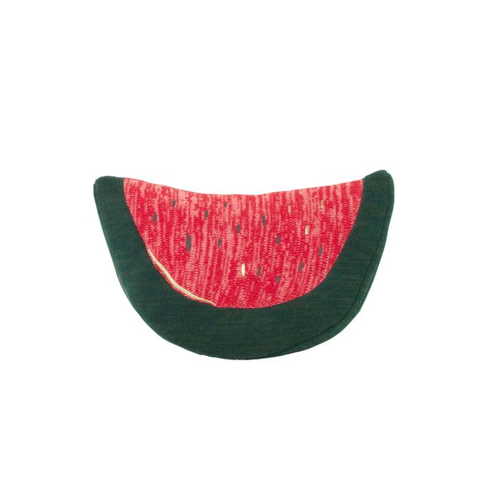 Fruiticana Kissen Melone in grün / rot von ferm Living