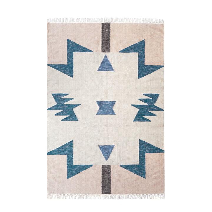 Kelim Rug Blue Triangles von ferm Living in groß