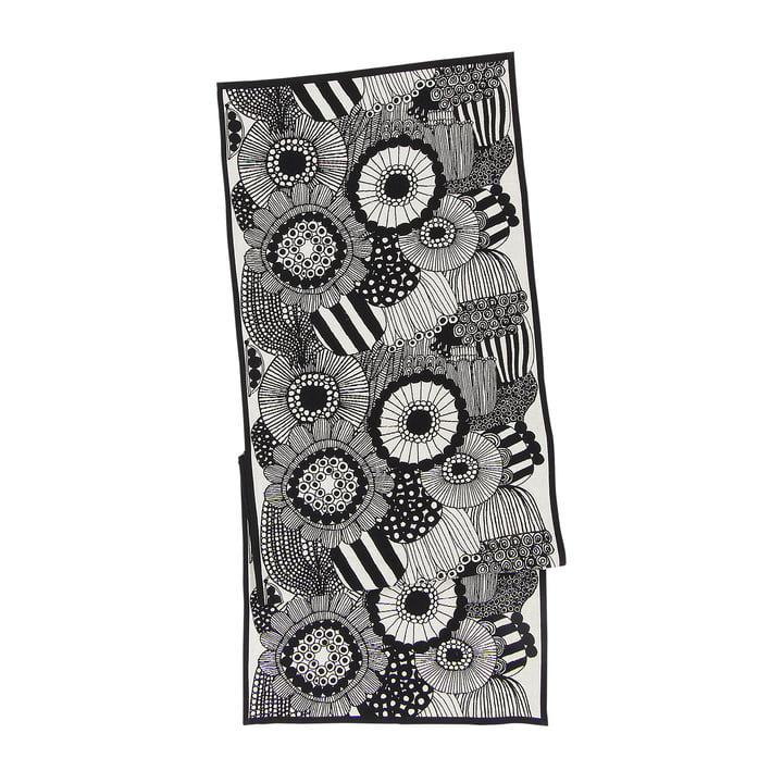 Pieni Siirtolapuutarha Tischläufer 47 x 150 cm von Marimekko in schwarz / weiß