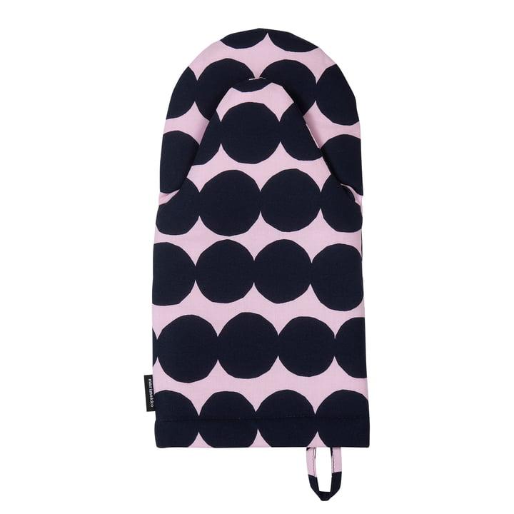 Räsymatto Ofenhandschuh von Marimekko in pink / dunkelblau