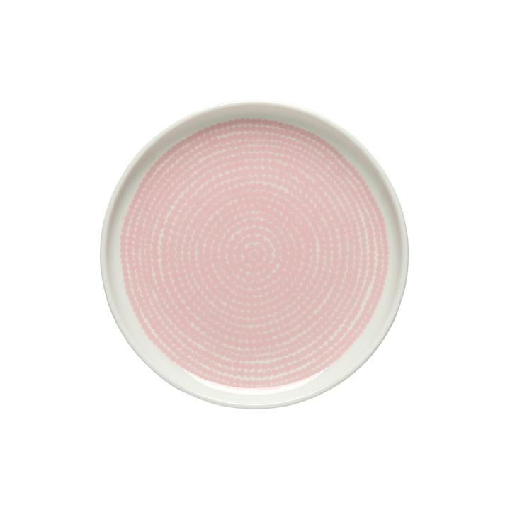 Oiva Räsymatto Teller Ø 13.5 cm von Marimekko in weiß / rosa