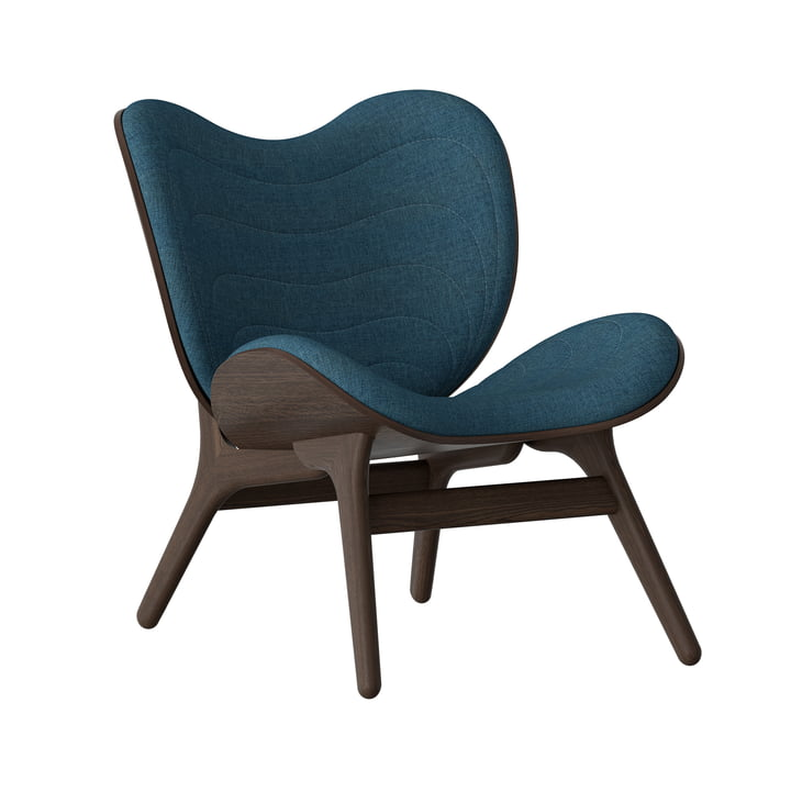 A Conversation Piece Sessel von Umage in Eiche dunkel / petrolblau