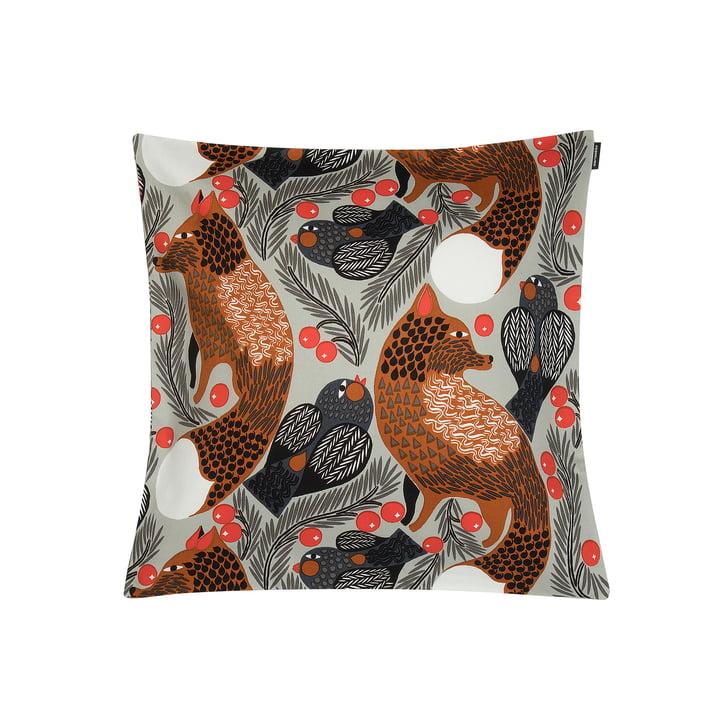 Ketunmarja Kissenbezug 45 x 45 cm von Marimekko in hellgrau / braun