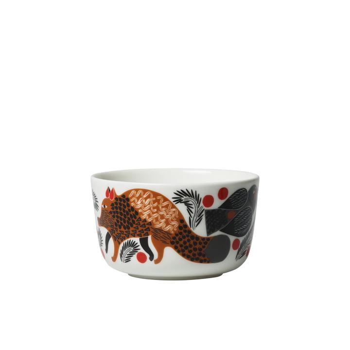 Oiva Ketunmarja Schale 250 ml von Marimekko in weiß / braun / schwarz