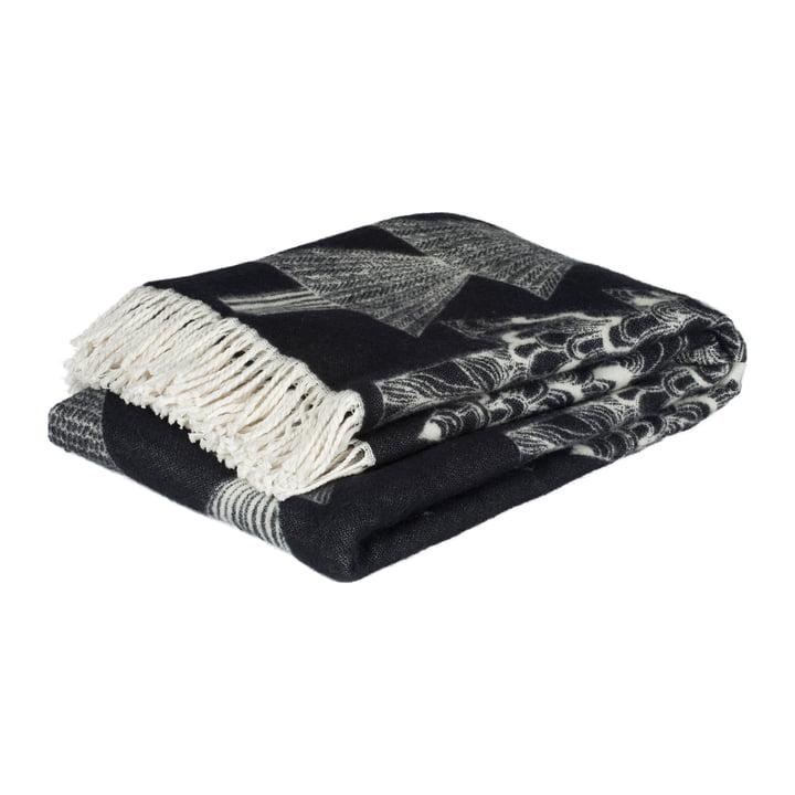 Kuusikossa Wolldecke 130 x 170 cm von Marimekko in schwarz / weiß