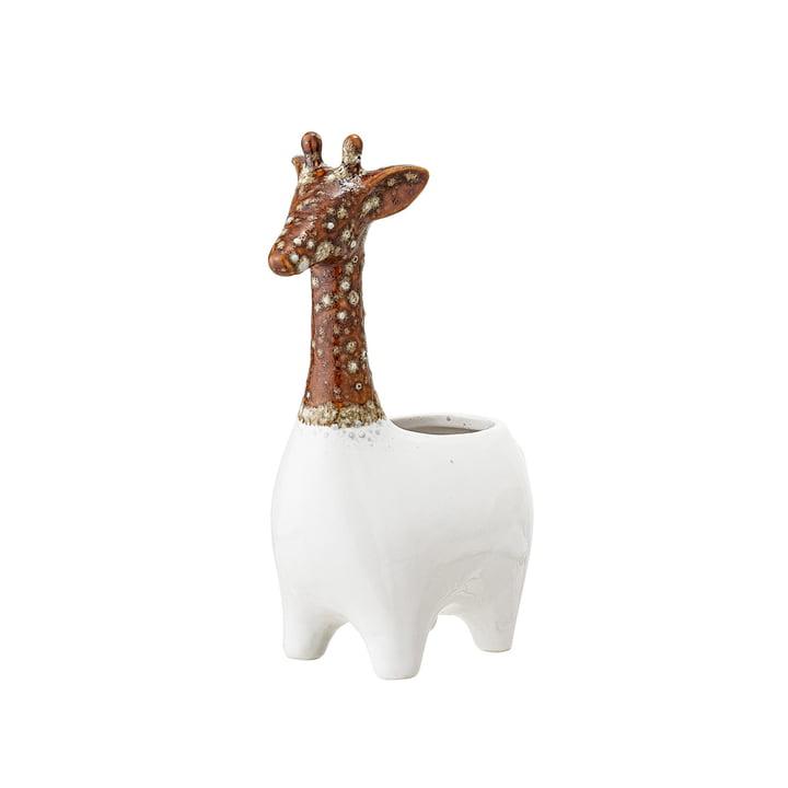 Steingut Übertopf Giraffe von Bloomingville in braun / weiß