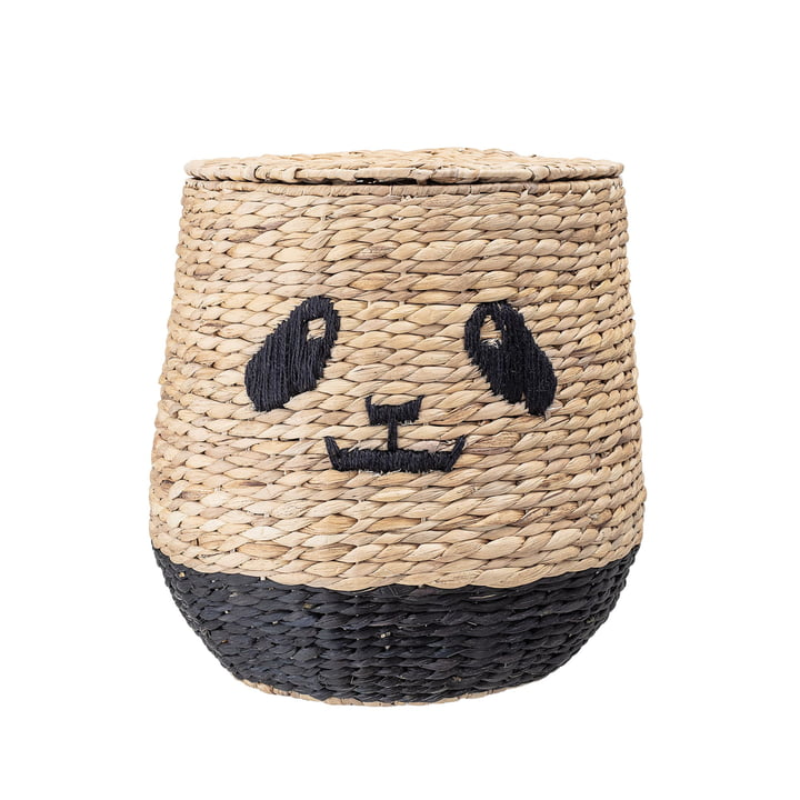 Panda Aufbewahrungskorb mit Deckel von Bloomingville