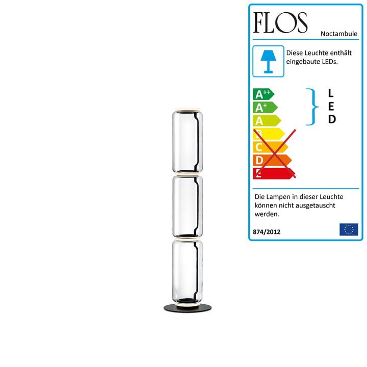 Noctambule Stehleuchte F3 High Cylinder von Flos in schwarz