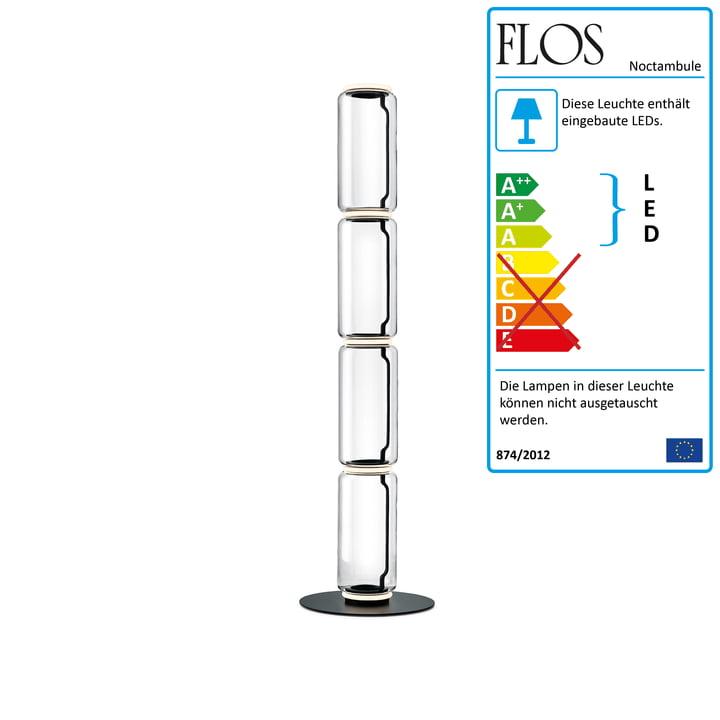 Noctambule Stehleuchte F4 High Cylinder von Flos in schwarz
