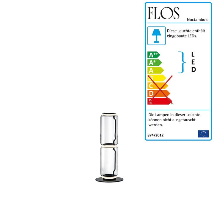 Noctambule Stehleuchte F2 Low Cylinder von Flos in schwarz
