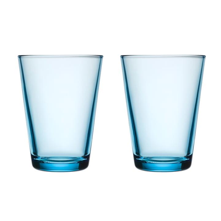 Kartio Trinkglas 40 cl (2er-Set) von Iittala in hellblau