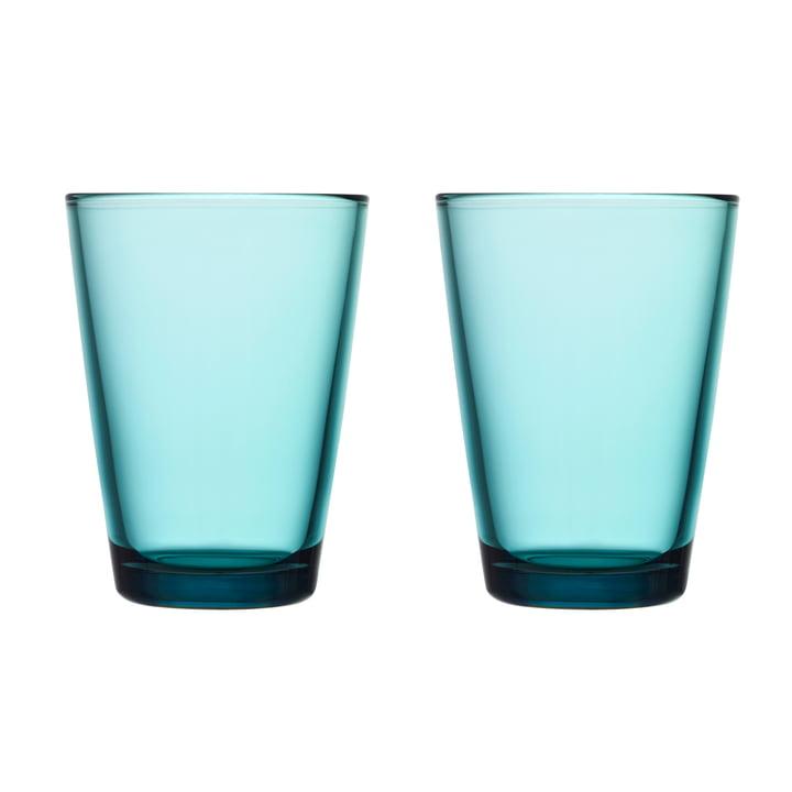 Kartio Trinkglas 40 cl (2er-Set) von Iittala in seeblau