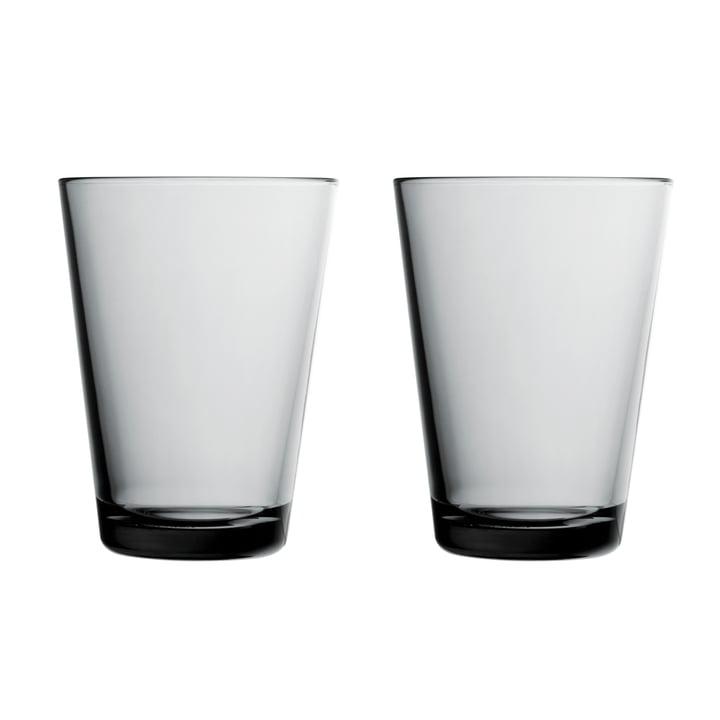 Kartio Trinkglas 40 cl (2er-Set) von Iittala in grau