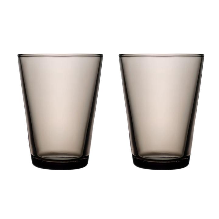 Kartio Trinkglas 40 cl (2er-Set) von Iittala in sand