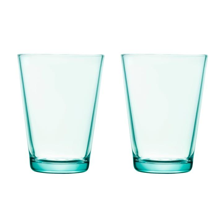 Kartio Trinkglas 40 cl (2er-Set) von Iittala in wassergrün