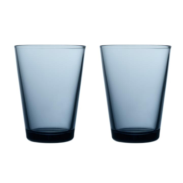 Kartio Trinkglas 40 cl (2er-Set) von Iittala in regenblau