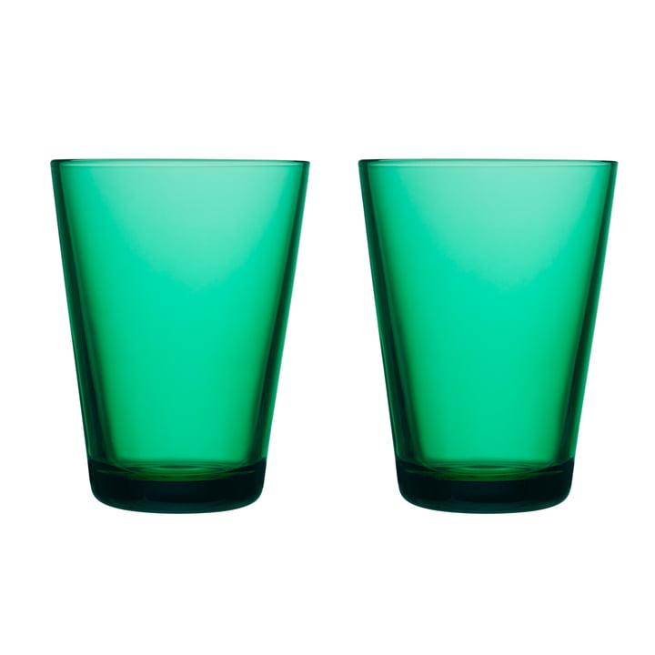 Kartio Trinkglas 40 cl (2er-Set) von Iittala in smaragdgrün