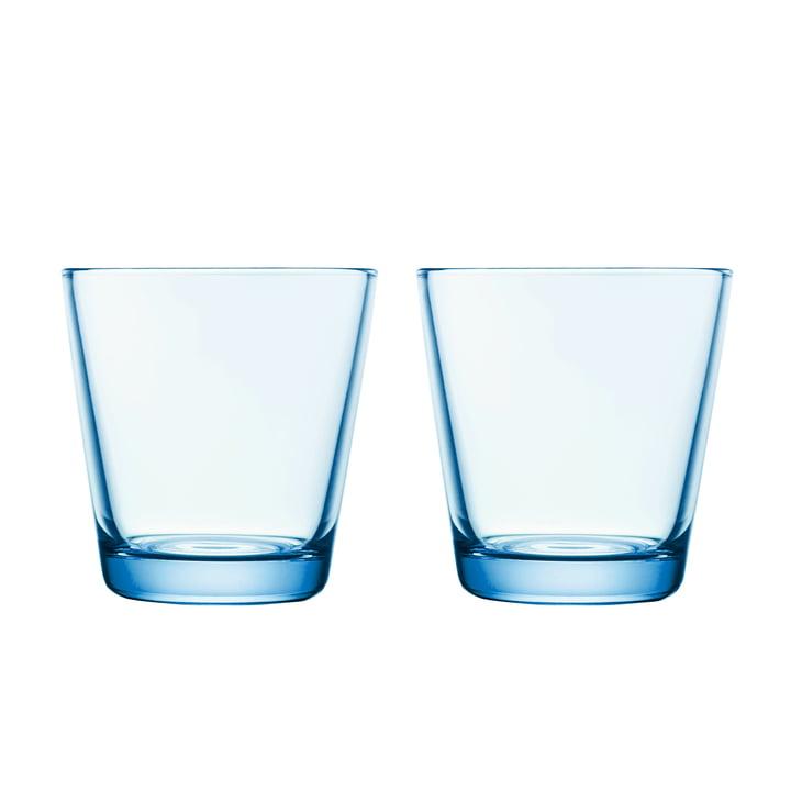 Kartio Trinkglas 21 cl (2er-Set) von Iittala in hellblau