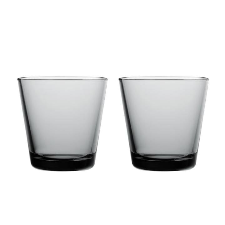 Kartio Trinkglas 21 cl (2er-Set) von Iittala in grau