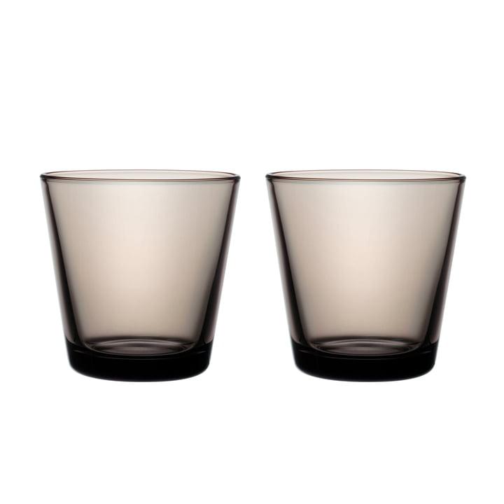 Kartio Trinkglas 21 cl (2er-Set) von Iittala in sand