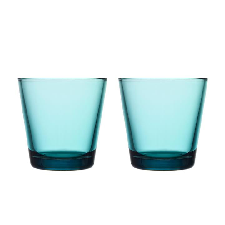 Kartio Trinkglas 21 cl (2er-Set) von Iittala in seeblau