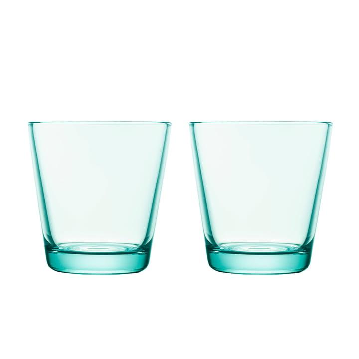 Kartio Trinkglas 21 cl (2er-Set) von Iittala in wassergrün