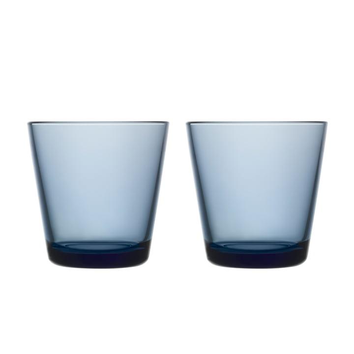 Kartio Trinkglas 21 cl (2er-Set) von Iittala in regenblau